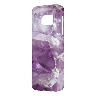 紫色の宝石用原石の結晶の水晶紫色の薄紫 SAMSUNG GALAXY S7 ケース