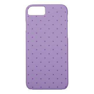 紫色の小さい紫色の水玉模様 iPhone 8/7ケース