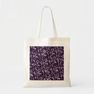 紫色の小石 トートバッグ