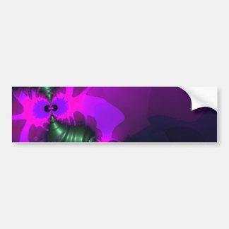 紫色の小鬼の-すみれ色およびマゼンタのリボン バンパーステッカー