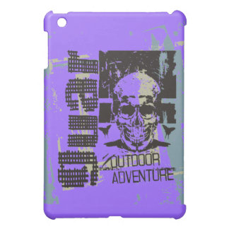 紫色の屋外の冒険のスカル iPad MINIカバー