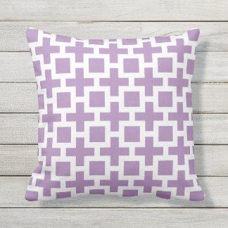 紫色の屋外の枕正方形の格子垣 アウトドアクッション