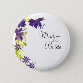 紫色の島の結婚式によっては花嫁の母が開花します 5.7CM 丸型バッジ