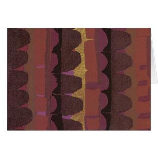 紫色の帆立貝の列 カード
