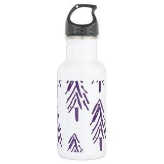 紫色の常緑の木 ウォーターボトル
