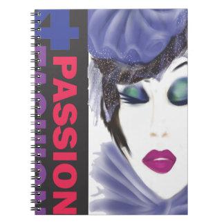 紫色の帽子の女性12x14 png transp.png ノートブック