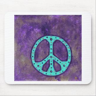 紫色の平和 マウスパッド