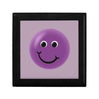 紫色の幸せなスマイリー ギフトボックス