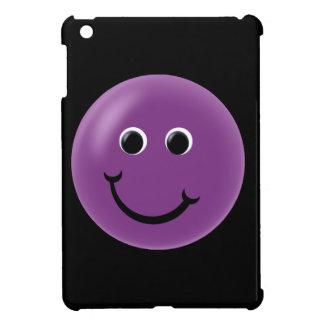 紫色の幸せなスマイリー iPad MINIケース