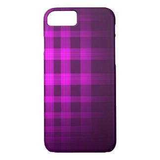 紫色の幽霊のタータンチェックパターン iPhone 8/7ケース