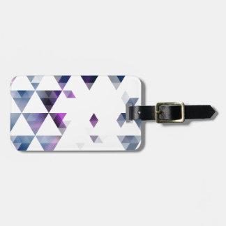 紫色の幾何学的な三角形の芸術 ラゲッジタグ