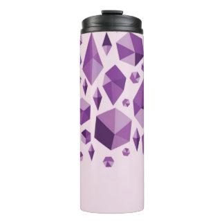 紫色の幾何学的な宝石の形 タンブラー