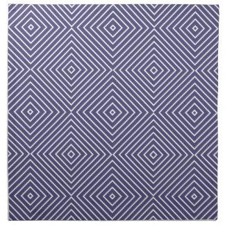 紫色の幾何学的な正方形 ナプキンクロス