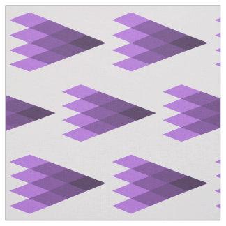 紫色の幾何学的な生地 ファブリック