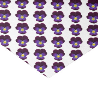 紫色の庭のパンジーの花のティッシュペーパー 薄葉紙