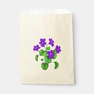 紫色の庭バイオレットの好意のバッグ フェイバーバッグ