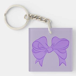 紫色の弓キーホルダー キーホルダー