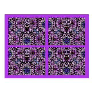 紫色の当惑のコラージュ ポストカード