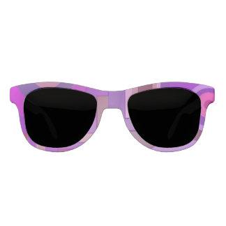 紫色の形の抽象芸術 サングラス