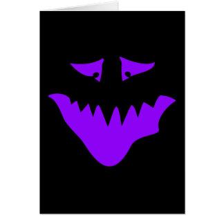 紫色の恐い顔。 モンスター カード