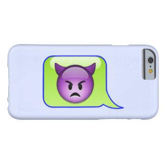 紫色の悪魔のEmojiの文字の泡 iPhone 6 ベアリーゼアケース