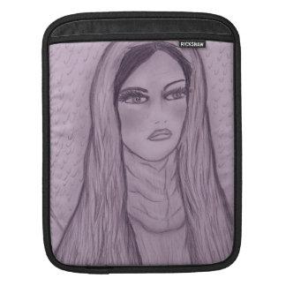 紫色の情け深いメリー iPadスリーブ