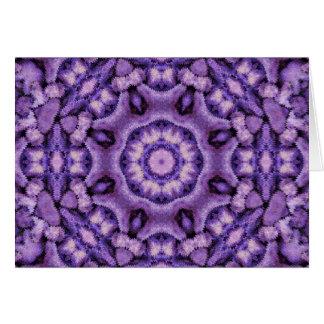 紫色の情熱の万華鏡のように千変万化するパターン カード