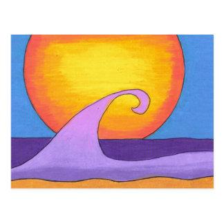 紫色の情熱の海 ポストカード