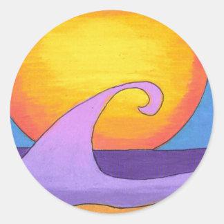 紫色の情熱の海 ラウンドシール