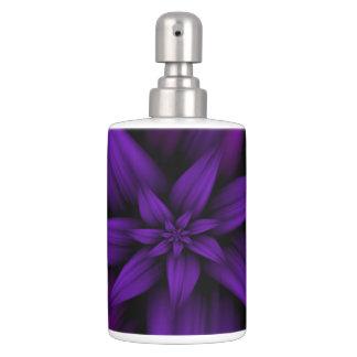紫色の情熱の花柄 バスセット