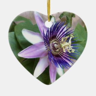 紫色の情熱の花 セラミックオーナメント