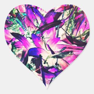紫色の情熱 ハートシール