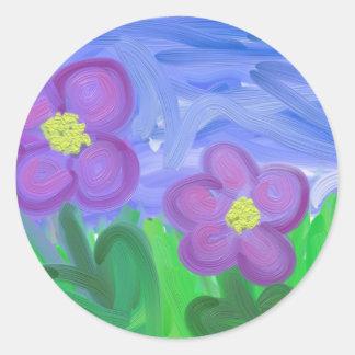 紫色の情熱 ラウンドシール