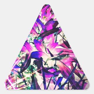 紫色の情熱 三角形シール
