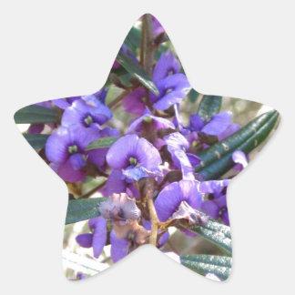 紫色の情熱 星シール