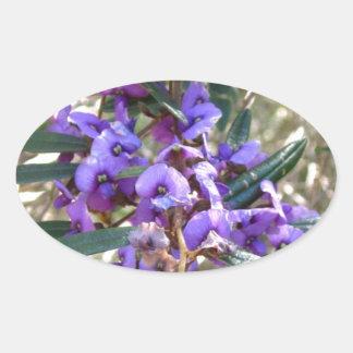 紫色の情熱 楕円形シール