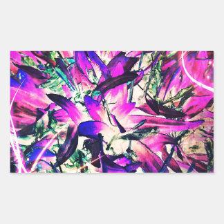 紫色の情熱 長方形シール