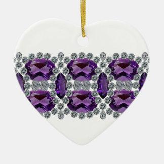 紫色の情熱Pin セラミックオーナメント