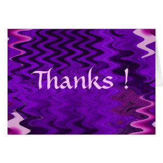 紫色の感謝! カード