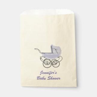 紫色の手押車のベビーシャワーの好意のバッグ フェイバーバッグ