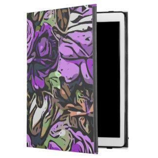 """紫色の抽象的なバラ iPad PRO 12.9"""" ケース"""
