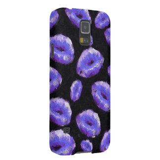 紫色の抽象的な唇 GALAXY S5 ケース