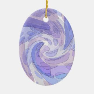 紫色の抽象美術のモダンのアートワーク セラミックオーナメント