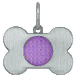 紫色の抽象芸術のストライプなパターン ペットネームタグ