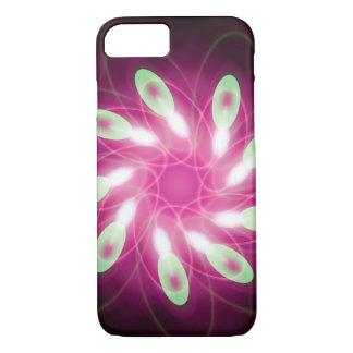 紫色の抽象芸術パターンで緑渦巻くこと iPhone 8/7ケース