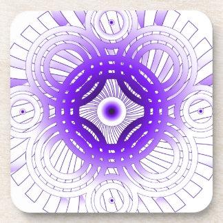 紫色の抽象芸術 コースター