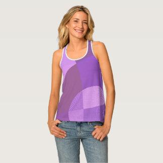 紫色の抽象芸術 タンクトップ