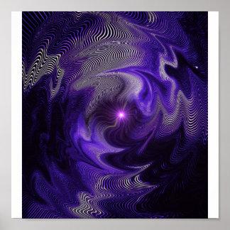 紫色の抽象芸術 ポスター