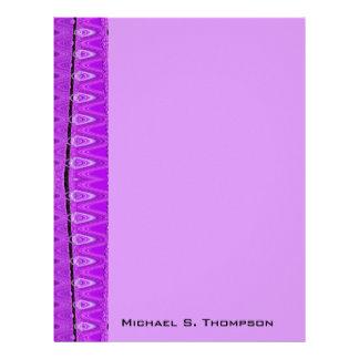 紫色の抽象芸術 レターヘッド
