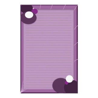 紫色の抽象芸術 便箋